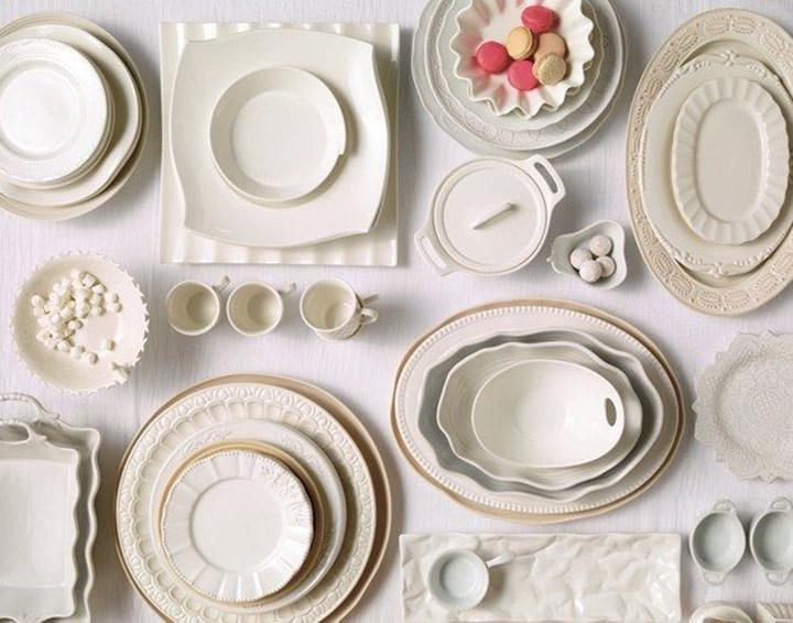 aparelho de jantar branco