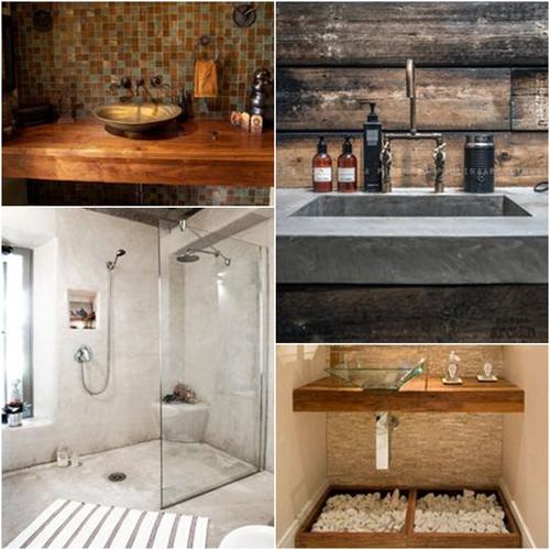 Decoração Rústica Para Banheiros Pictures to pin on Pinterest -> Decoracao Banheiro Rustica