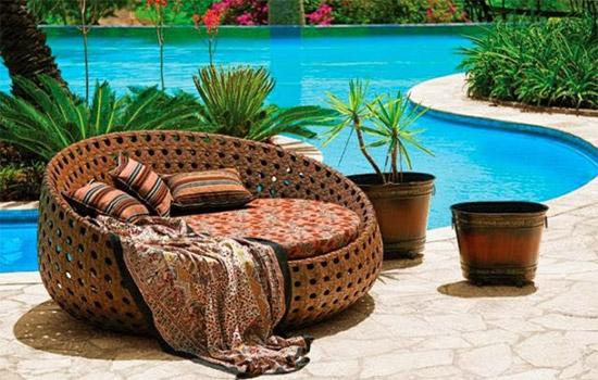 decorar jardim jogos:espreguiçadeiras e chaise de madeira, plástico, bambu, fibra natural
