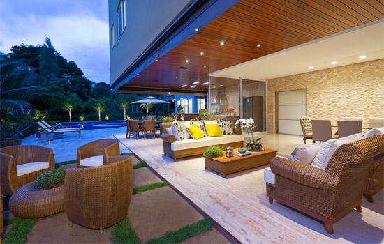 jardim quintal grande:Decoração Moderna da Área Externa da Casa!