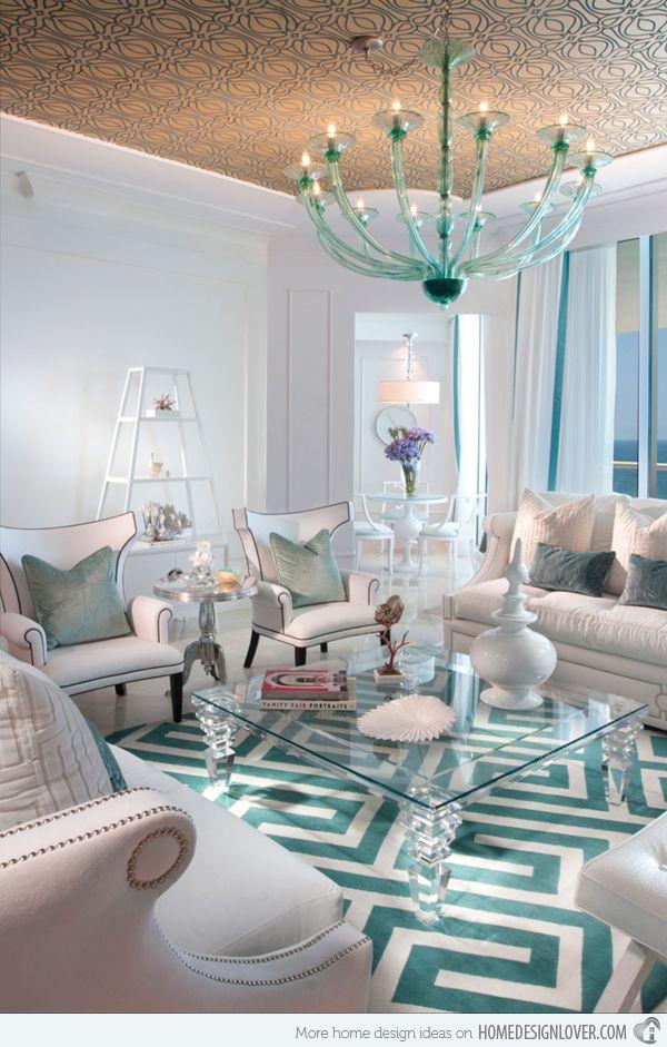 sala de estar turquesa