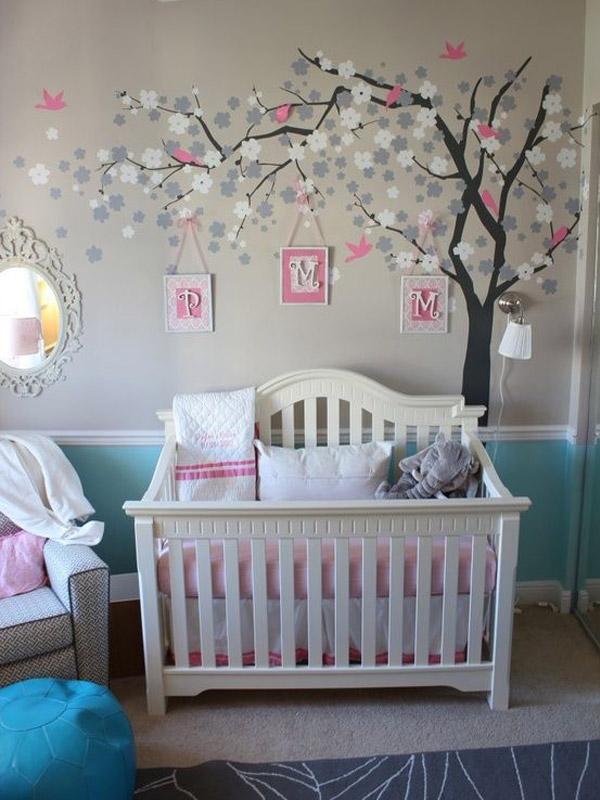 decoracao de quarto de bebe azul e amarelo:na decor para quarto de menina existe sempre um tom em rosa que