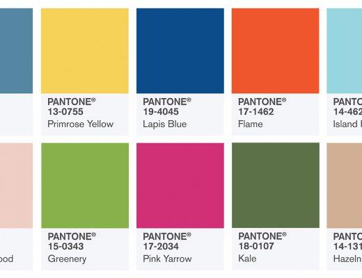 Dez Top Colors da Pantone para a Primavera 2017