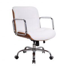 cadeira escritorio diretor branco mobly