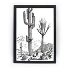 Pôster com Moldura A4 Preto - Big Cactus Mobly