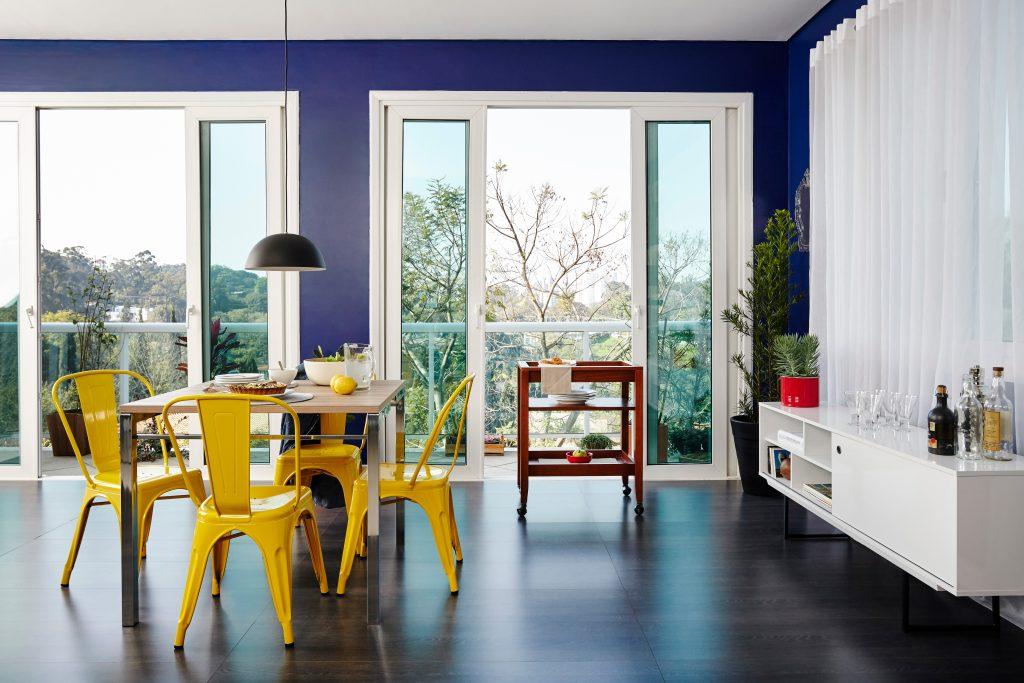 roda das cores na decoração da sala de estar