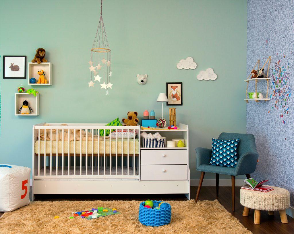 decoração do quarto infantil com berço
