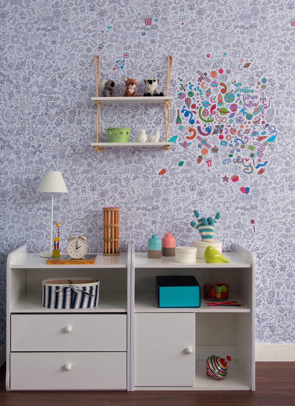 decoração do quarto infantil com cômoda branca