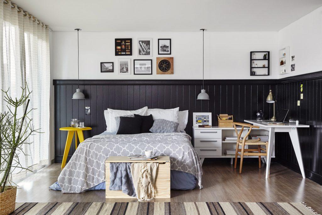 decoração industrial para quarto mais aconchegante