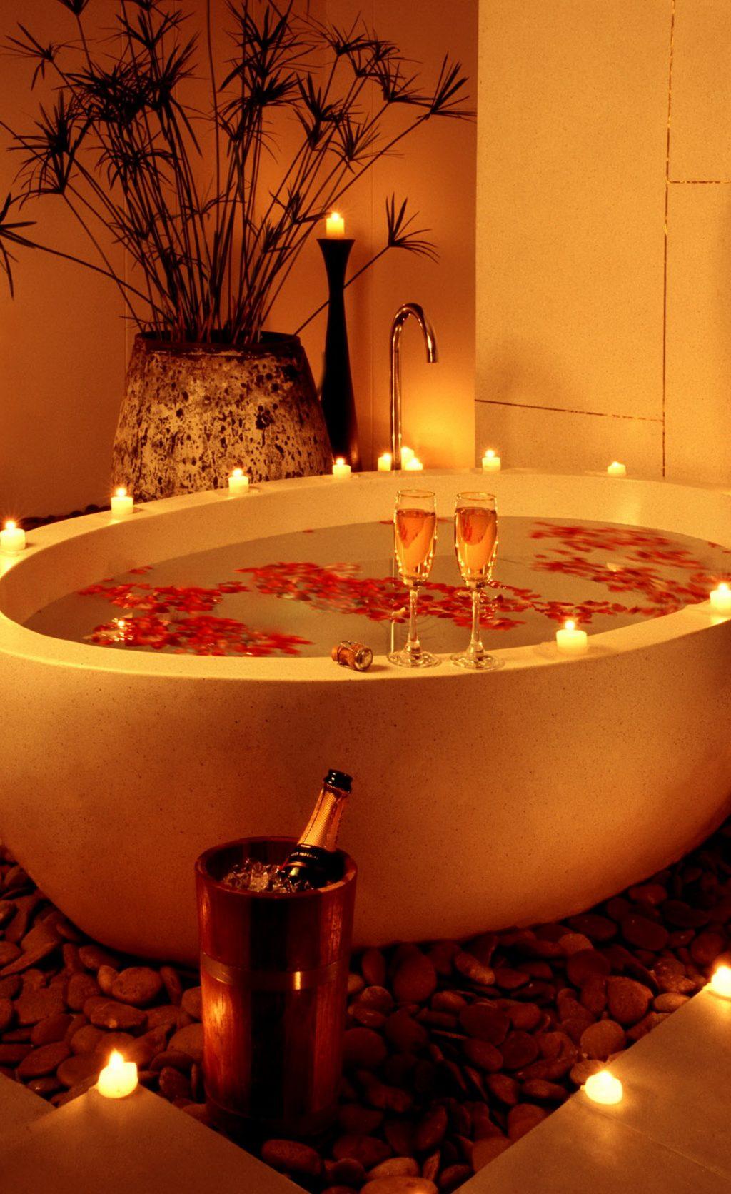 dia dos namorados com banho romântico