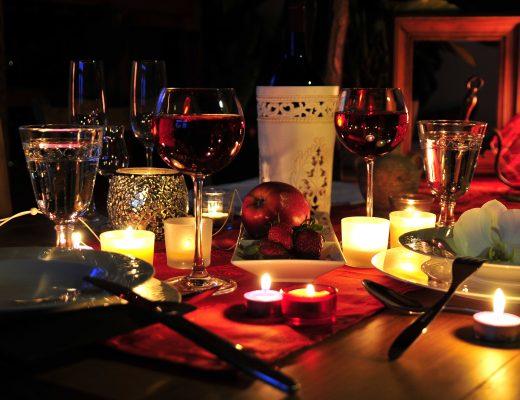 dia dos namorados com jantar romantico