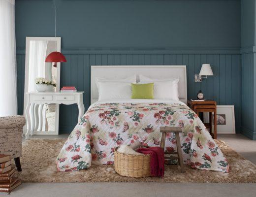 decoração para quarto mais aconchegante floral