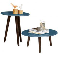 conjunto de mesa azul para festa em casa