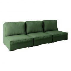 festa em casa com sofá verde