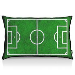festa em casa com almofada de futebol