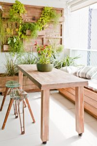 vertical garden in rustic outdoor area