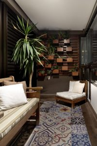 vertical garden on apartment balcony