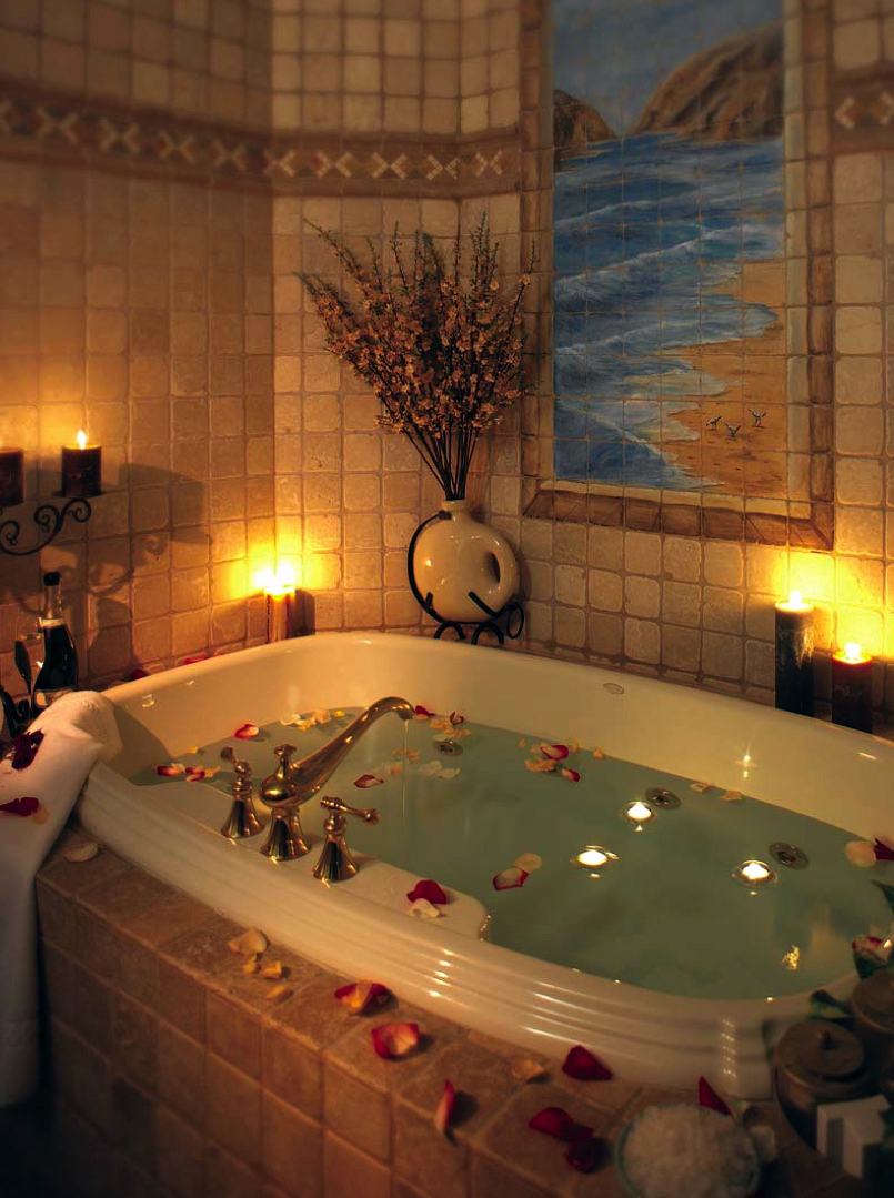dia dos namorados com banheira decorada
