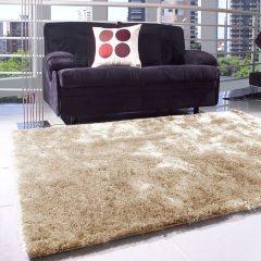 tapete shaggy para decoração de inverno