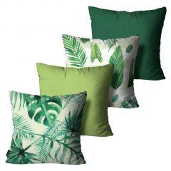 Dicas para as férias Kit Almofadas verde-floral