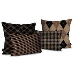 almofadas marrons para decoração de inverno