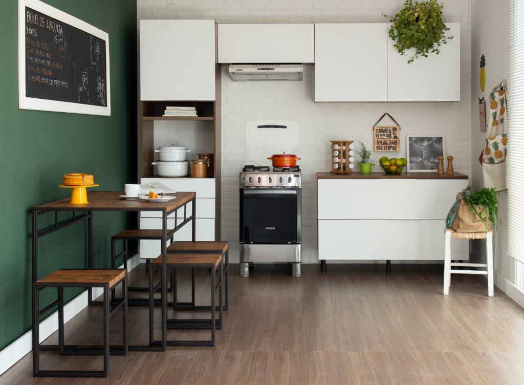 decoração de cozinha com inspiração tropicália