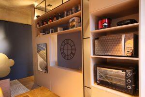 decoração de apartamentos pequenos com home bar na cozinha