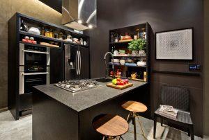 decoração de apartamentos pequenos cozinha multifuncional