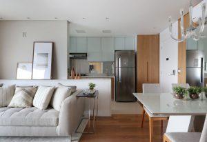 decoração de apartamentos pequenos com integração de sala de estar e cozinha