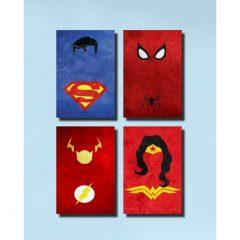 dia dos pais presentes quadros super herois