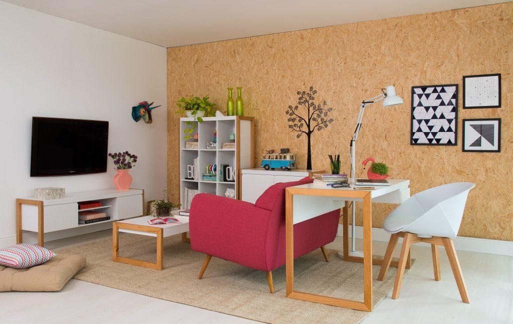 escrivaninha na sala de estar