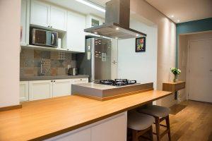 cozinha americana com cooktop