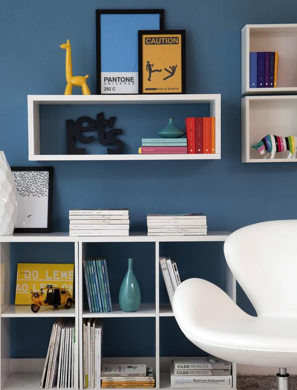 Resultado de imagem para ambiente decorado com nichos e prateleiras