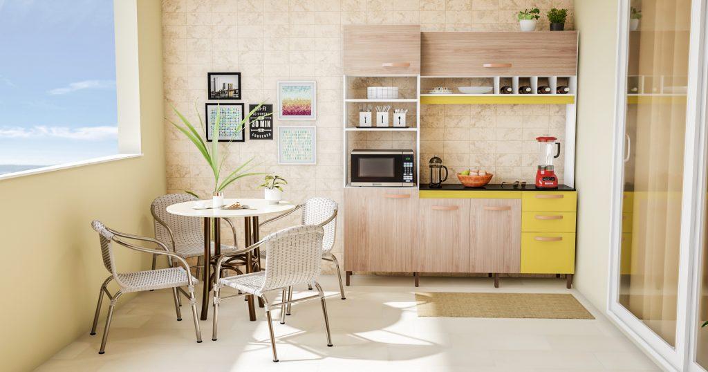 Decoração da área externa integrada com ambiente gourmet