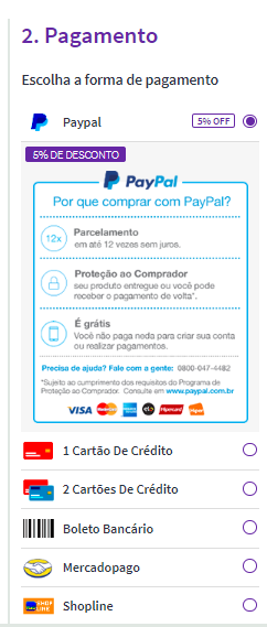 diversas formas de pagamento para comprar móveis pela internet