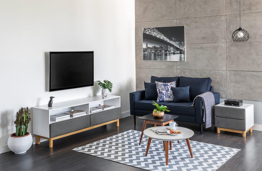 Sala de estar de uma casa organizada