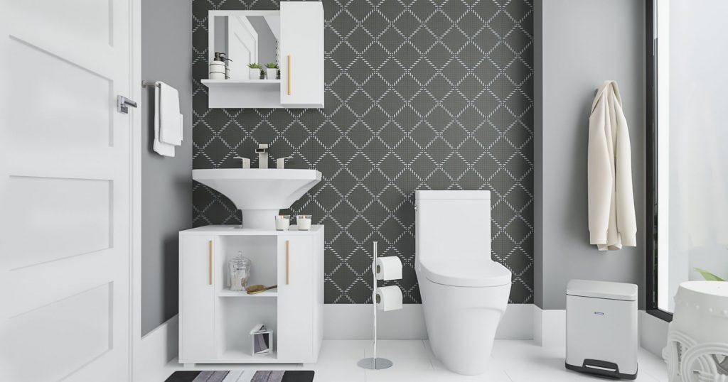 banheiro decorado com técnicas de home staging