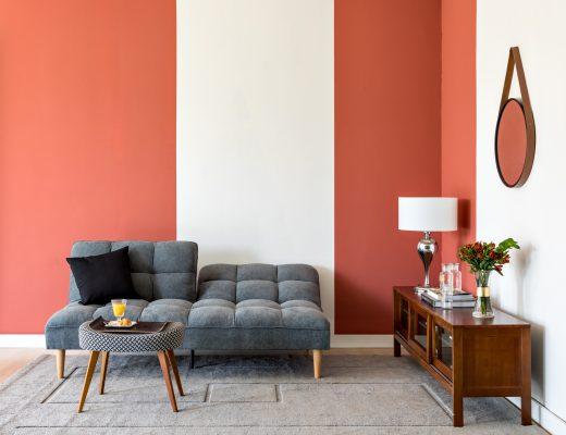 Sala de estar de apartamento pequeno